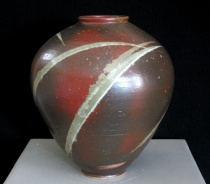 Stoneware, cone 10 reduction, 14 in h x 10 in dia